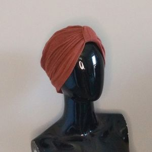 Vintage Rust Colored Minimalist Stretchy Turban
